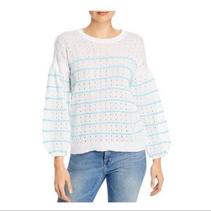 DESIGN HISTORY STRIPED LONG SLEEVE SWEATER NWT S L